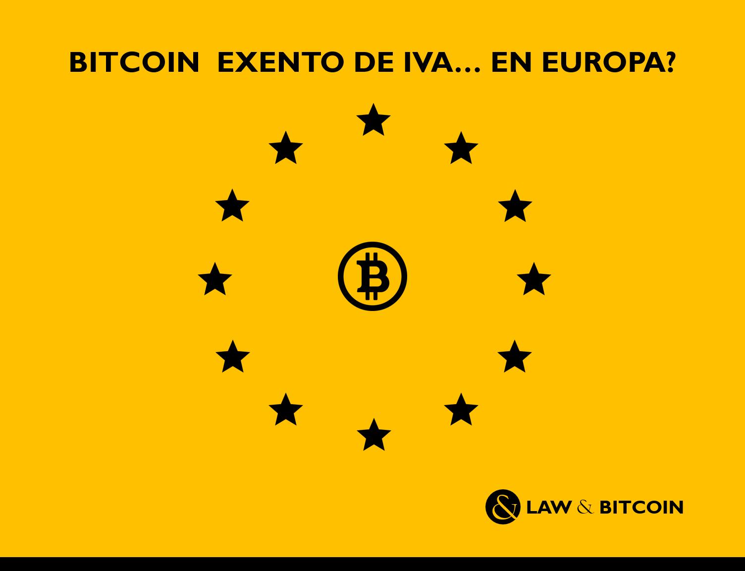 Bitcoin exento de IVA en Europa