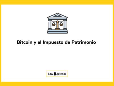 bitcoin e impuesto patrominio