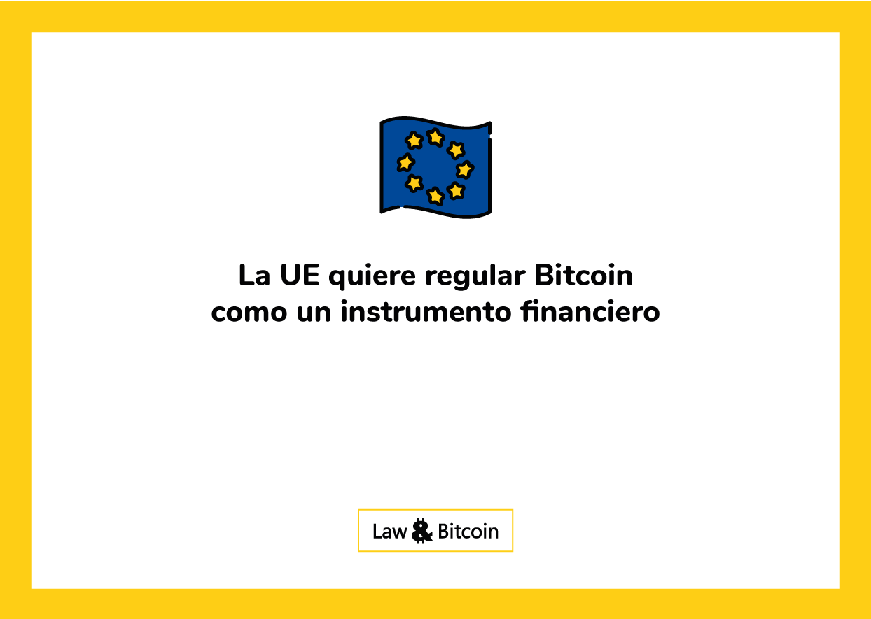 Union Europa regula BTC