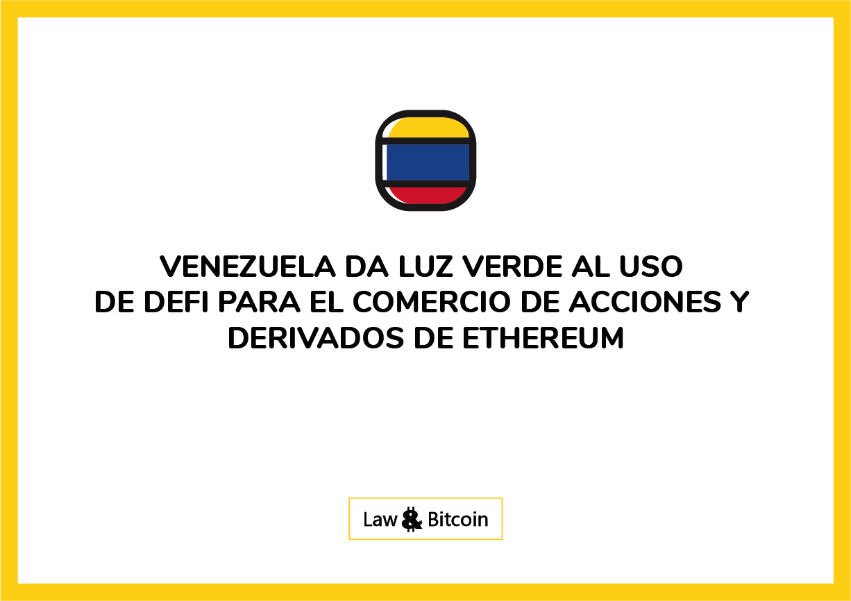 venezela defi derivados eth