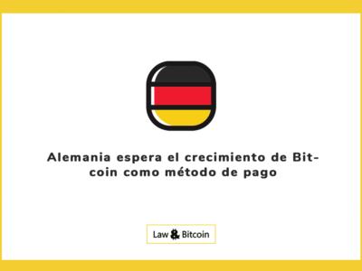 Alemania espera el crecimiento de Bitcoin como método de pago