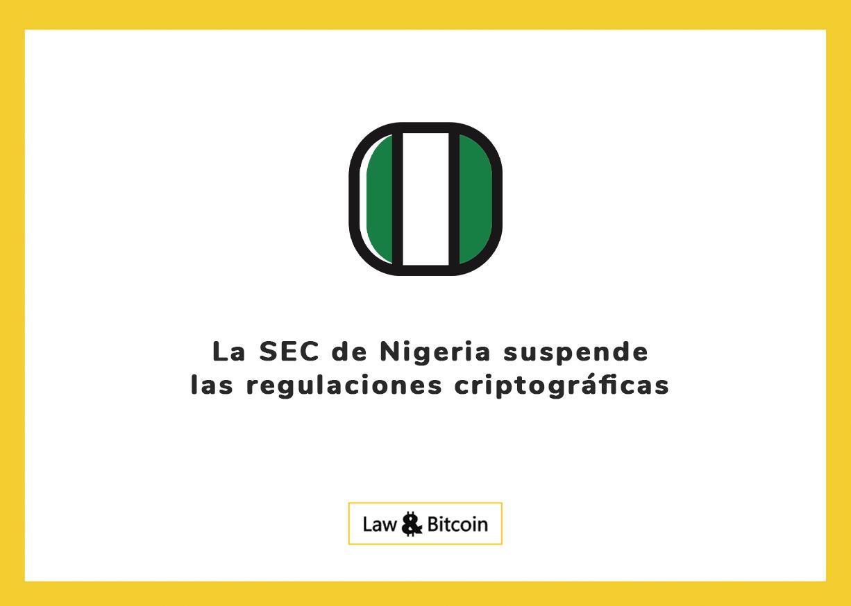 La SEC de Nigeria suspende las regulaciones criptográficas