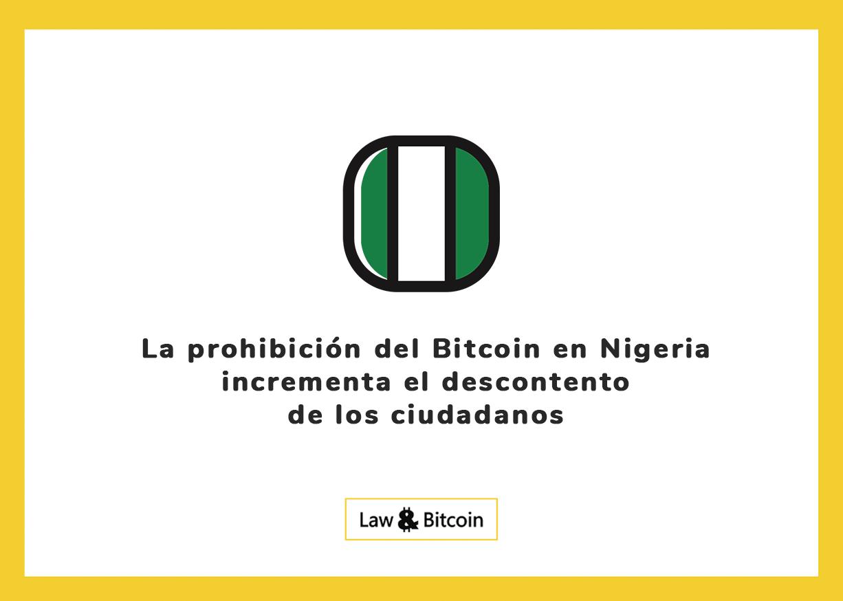 La prohibición del Bitcoin en Nigeria incrementa el descontento de los ciudadanos