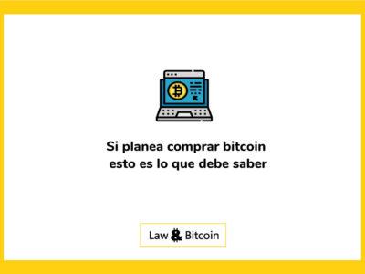 Si planea comprar bitcoin esto es lo que debe saber