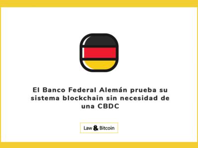 El Banco Federal Alemán prueba su sistema blockchain sin necesidad de una CBDC