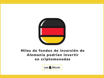 Miles de fondos de inversión de Alemania podrían invertir en criptomonedas