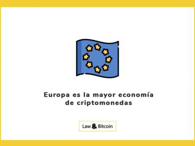 Europa es la mayor economía de criptomonedas